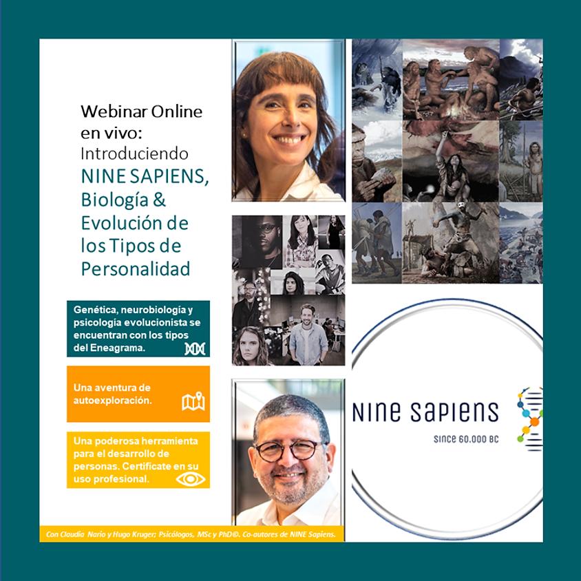 Webinar gratuito: Nine Sapiens©, biología y evolución de los tipos de personalidad