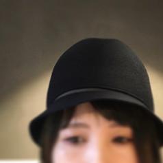 Felt Round Hat with Line / Short Brim