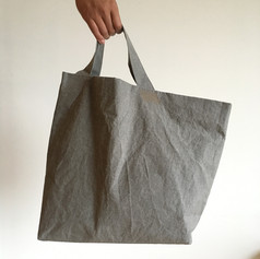 Wax Coated Cotton Asymmetrical Tote