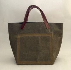 Wax Coated Cotton Stitched Bag Small