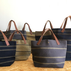 Recycled Cotton Stripes Totes