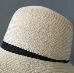Abaca Straw Hat with Darts