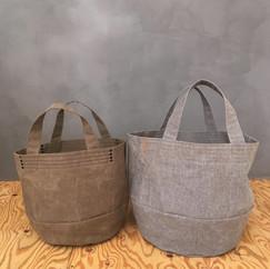 Wax Coated Cotton Bucket Bags