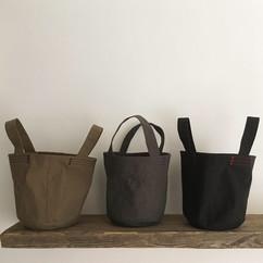 Wax Coated Cotton Bucket Bag Small