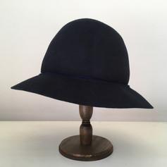 Felt Round Hat with Line / Normal Brim
