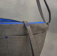 Wax Coated Cotton Front Pocket Zip Shoulder