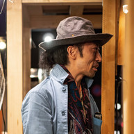 Wax Coated Cotton Hat / Wide Brim / GRAY