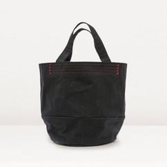 Wax Coated Cotton Bucket Bag Middle