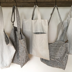 Plum Charcoal Print Bags