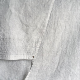 Linen Apron Standard / Side Pocket / LIGHT SUMI