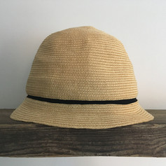 Paper Straw Hat with Line / Short Brim
