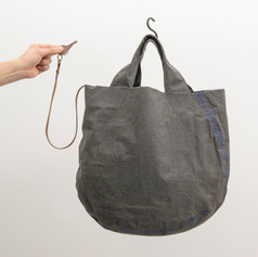 Wax Coated Cotton Round Bottom Tote