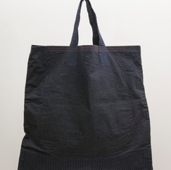 Wax Coated Cotton Square Flat Big Tote