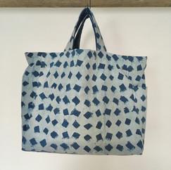Cotton Indigo Block Print Stitchless Tote