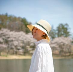 Abaca Straw Hat with Darts / Wide Brim