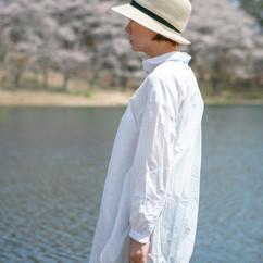 Abaca Straw Hat with Darts / Normal Brim