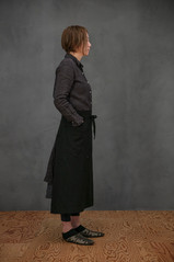 Linen Apron Long / BLACK