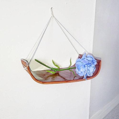 Hanging ceramic shelf