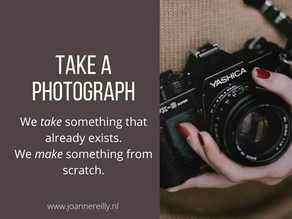 Make or take a photograph?