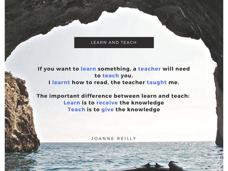 Learn or teach?