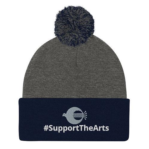 #SupportTheArts Pom-Pom Beanie