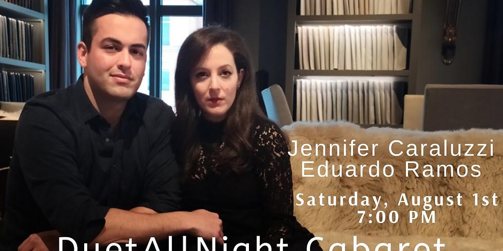 Jennifer Caraluzzi and Eduardo Ramos in DuetAllNight Cabaret