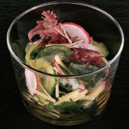 Salade de concombre et algues - Vinaigre Tosazu