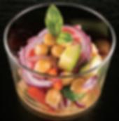 Salade de pois chiches, vinaigrette à la moutarde - Vinaigre pour sushi Marusho