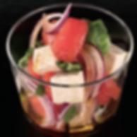 Salade de tomate et tofu style Italien - Vinaigre Champonzu