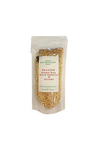 Riz complet torréfié avec Haricot de soja noir et Sésame (160g)