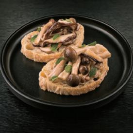 Bruschetta de champignons Vinaigre pour sushi Marusho