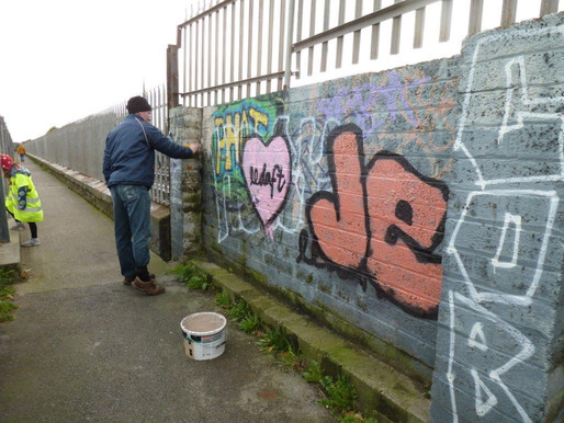 Some Graffiti Removal by Balbriggan Tidy Towns.