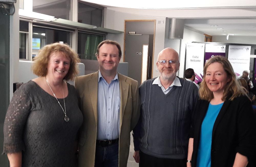 Bernie Kelly Fingal CoCo with Liam O Culbaird Fingallians GAA, Seán Mac Domhnaill and Cllr Daire Ní Laoi