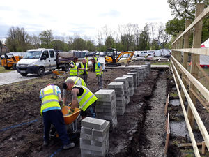 Construction of Fingal's Bloom in The Park 2018 garden began