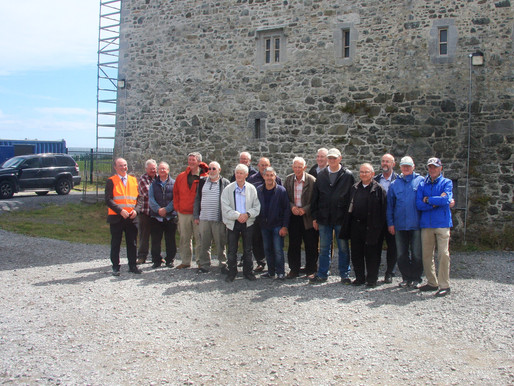 Lads from Balbriggan Mens Shed vist Bremore Castle