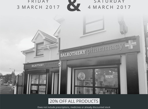 Balrothery Pharmacy Grand Opening Today & Saturday