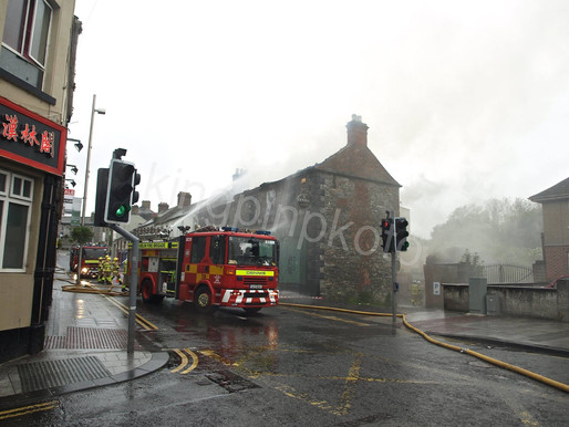 Huge Fire on Bridge Street Balbriggan