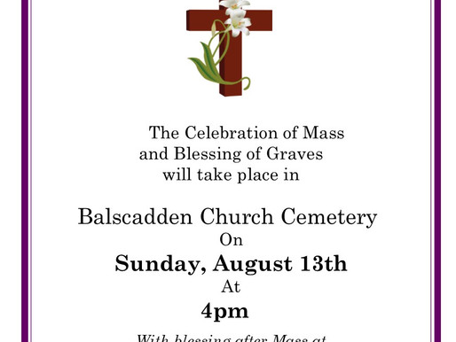 Blessing of Graves in Balscadden, August 13th 2017