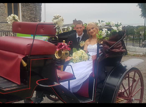 Balbriggan's North County Carriages ensures Wedding sets off in style.