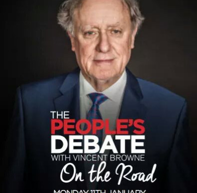 The People's Debate with Vincent Browne Comes to North County Tonight.