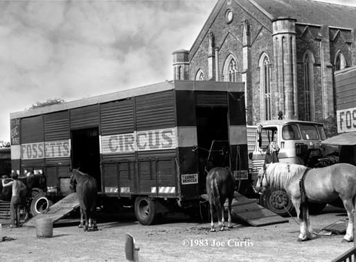 Fossett's Circus at Balbriggan Church Car Park, Aug 1983