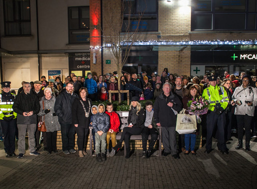 Family & Friends gather as Memorial bench unveiled to remember Dr Patrick O'Mahuna