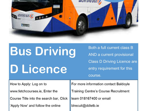 Bus/Coach driving course which is due to start in Balbriggan in October