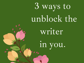 3 tips to bring out the writer in you.
