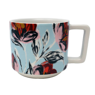 Starbucks 2019 Limited Edition Blue Swirl Peony Ceramic Coffee Mug 14oz