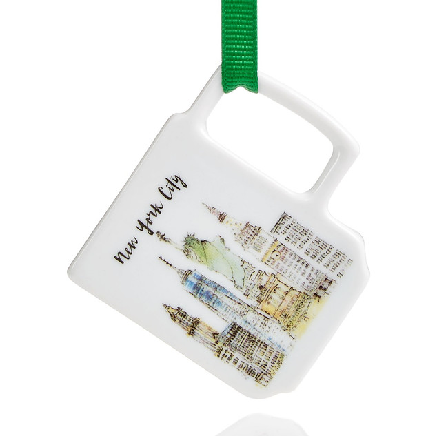 """Skyline Cup Ornament - Watercolor 2.5"""""""