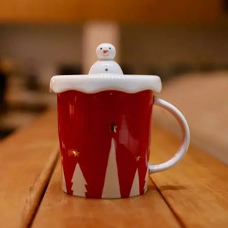10oz 冬日雪人馬克杯 (10 oz winter snowman mug)