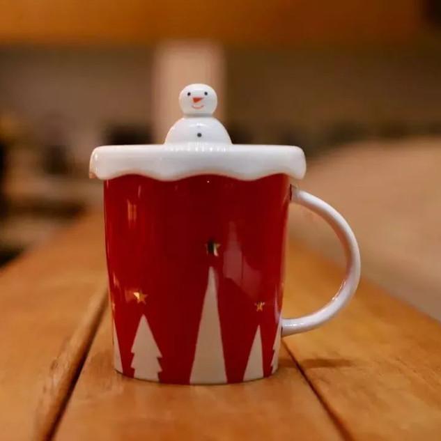 10oz 冬日雪人馬克杯 (10 oz winter snowman mug)