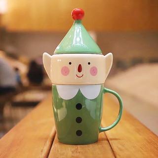 14oz 小精靈造型馬克杯糖罐組 (14 oz mug with elf candy jar)
