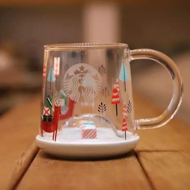14 oz 聖誕禮物款玻璃杯(14 oz Christmas gift glass)